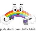 彩虹 吉祥物 绘画 34971444