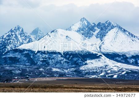 Lomnicky peak, High Tatras, Slovakia, detail scene 34972677