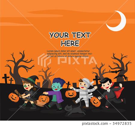 Happy Halloween. Children going to Trick or Treat. 34972835