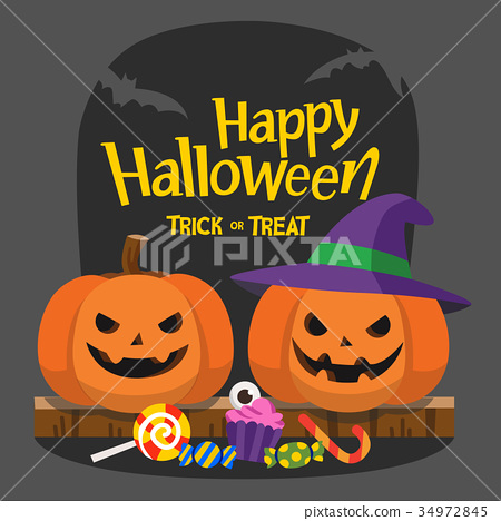 Happy Halloween and Trick or Treat Party.  34972845