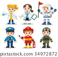 Kid Set of different professions.  34972872