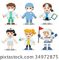 Kid Set of different professions.  34972875