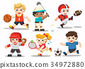 Team sports for kids. 34972880