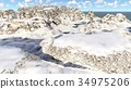 Flying over mountains in the sunny day 3d 34975206