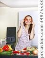 kitchen, female, people 34975533
