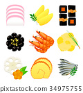 new year dishes, osechi, traditional japanese new year dishes 34975755