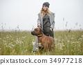 pretty young caucasian girl fashion dress outdoor 34977218