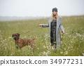 pretty young caucasian girl fashion dress outdoor 34977231