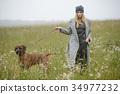 pretty young caucasian girl fashion dress outdoor 34977232
