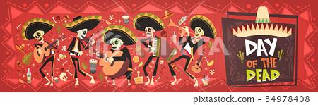 Day Of Dead Traditional Mexican Halloween Dia De 34978408