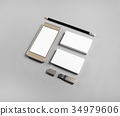 Stationery and cellphone 34979606