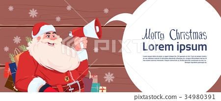 Merry Christmas And Happy New Year Greeting Card 34980391