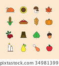 icon vector thanksgiving 34981399