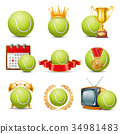 tennis icon set 34981483