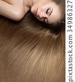girl with beautiful long hair 34986327