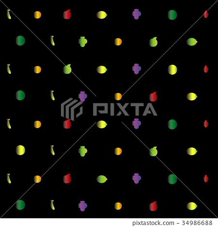 幾何水果背景 34986688