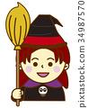 万圣节女巫 34987570