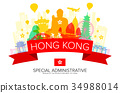 Hong Kong Travel Landmarks. 34988014
