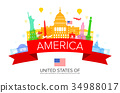 USA Travel Landmarks. 34988017