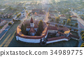 Aerial view of Prejmer fortified Church. Romania 34989775