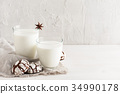 milk, cookie, drink 34990178