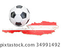 Football ball with map of Austria concept 34991492