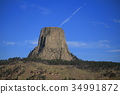 devils tower, rocky mountain, heap 34991872