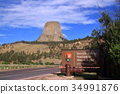 devils tower, rocky mountain, heap 34991876