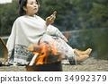 여자 홀로 여행 호수 트레킹 34992379