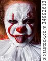 clown show tongue 34992613