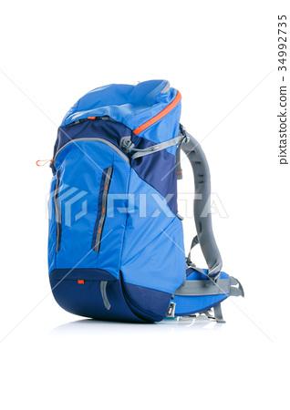 Image of blue backpack on white background 34992735
