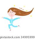 여성, 여자, 머리카락 34995999