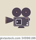 Retro Movie Camera 34996186
