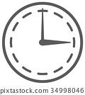 時鐘時間模擬時鐘圖圖標 34998046