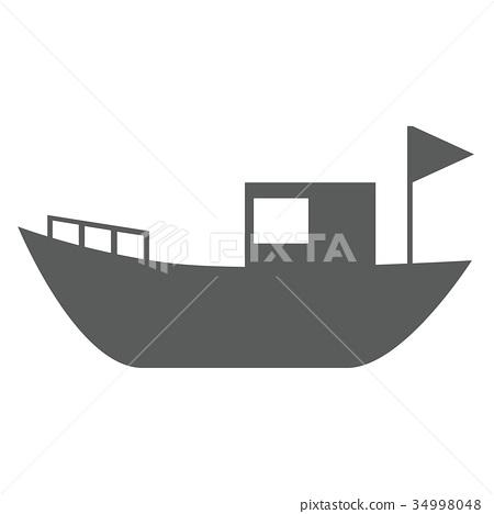 矢量 船 划船 34998048