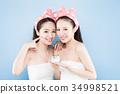 two beauty woman 34998521
