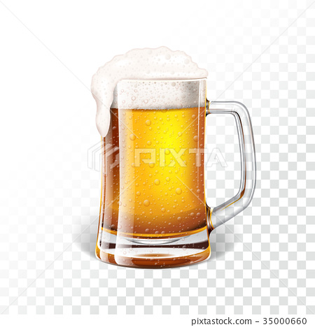 Vector illustration with fresh lager beer 35000660