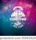 Vector illustration on a christmas theme with 35002929