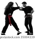 woman Kung Fu Pencak Silat isolated 35004339