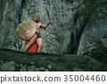 Spartan warrior in the woods 35004460