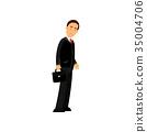 businessman, man, vector 35004706