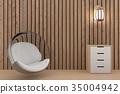 bubble sofa design in wood room design in 3D 35004942