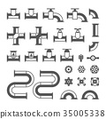 vector modern pipe 35005338
