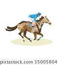 horse jockey vector 35005604