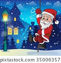 Climbing Santa Claus theme image 8 35006357