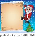 Climbing Santa Claus theme parchment 2 35006360