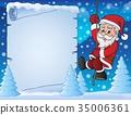 Climbing Santa Claus theme parchment 3 35006361