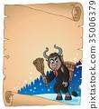 parchment Krampus vector 35006379