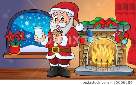 Santa Claus breakfast theme 2 35006384