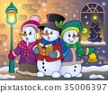 Christmas, xmas, snowman 35006397